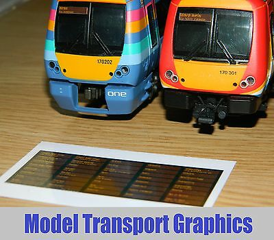 Scotrail Digital Style Destination Display Decal Bachmann Class170 Turbostar DMU