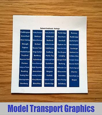 Network Southeast Heritage DMU Destination Blinds Decals Hornby Bachmann Lima