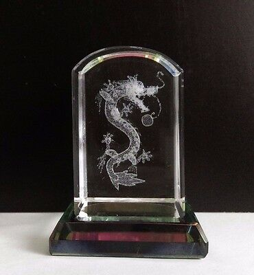 Dragon Ball Z - Shenron the Dragon - 3D Laser Etched Crystal Block - Small