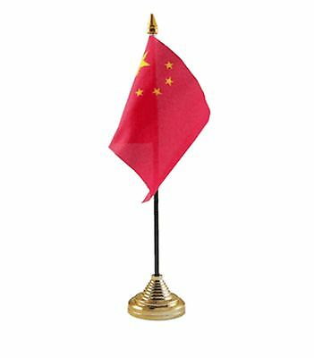 "CHINA DESKTOP TABLE FLAG 6""X4"" 15cm x 10cm flags CHINESE"