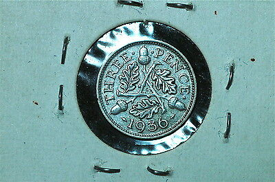 Great Britain, Three Pence Silver Coin, 1936