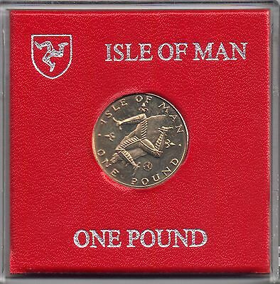 Isle of Man 1979 Percy's £1 One Pound Coin Triskeles uncirculated DM AC Cased