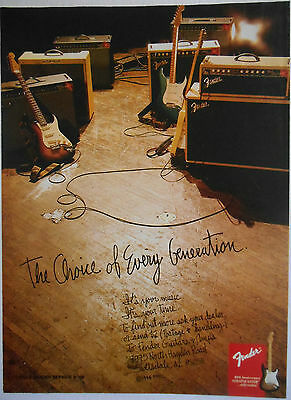 1994 original music AD Fender Guitars & Custom Shop Amps
