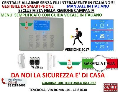 Antifurto Allarme Casa Kit Gsm Wireless Wifi Senza Fili Touch Screen Da Cellular