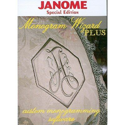 Janome Special Edition Monogram Wizard Plus Embroidery Machine Software