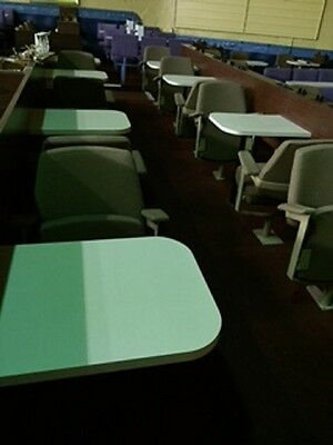 Retro Vintage 60s 2 Seater Fixed Cafe/Canteen/Diner Table 2 Cinema Style Seats