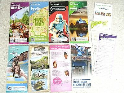 NEW Mar/ Apr 2016 DISNEY WORLD PARKS 11 GUIDE MAPS BROCHURES VACATION PLANNING