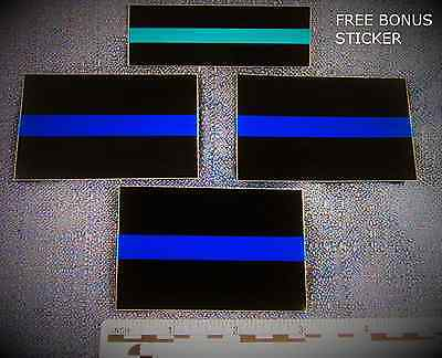 """Thin Blue Line 2"""" x 3"""" pack of 3 stickers, with FREE bonus decal - SHIPS FREE"""
