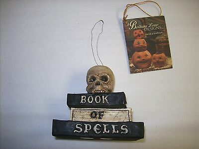 """Bethany Lowe """"Witches Brew Witch Book of Spells Ornament"""" (TD4037)"""
