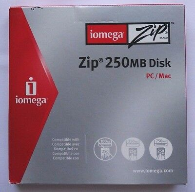 Iomega ZIP-Disk 250 MB - NEW and sealed - Paper case