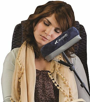 JetComfy Memory Foam Travel Pillow - Adjustable, Compact & Lightweight