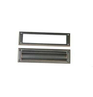 New Gibraltar Industries Steel Mail Slot Rubbed Bronze Finish Same Day Free Ship