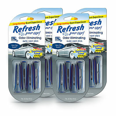 4-Pack Refresh Your Car Tunnel Vent Stick 4 Pack Fresh Linen