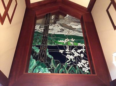 Vintage Iconic Chuck Franklin Stained Glass Art Big Bear Arrowhead California