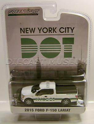 2015 '15 Ford F150 Lariat New York Blue Collar Collection Greenlight Diecast