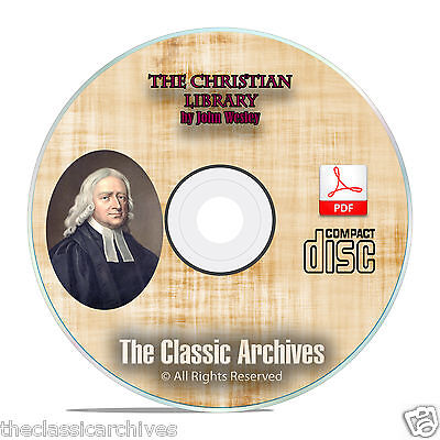 John Wesley, The Christian Library, All Volumes, Bible Commentary CD PDF F10