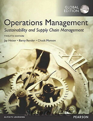 NEW Operations Management Sustainability and Supply Chain 12th Edition Heizer
