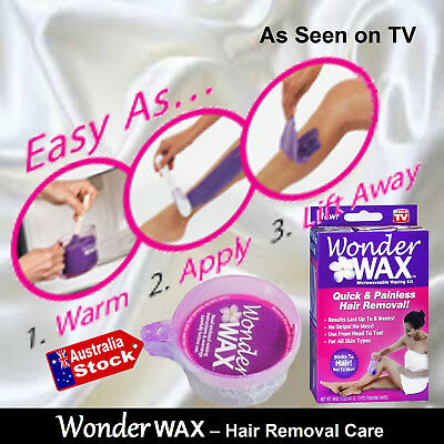 Band New WONDER WAX LATEST HAIR REMOVAL - JUST WARM, APPLY AND PEEL