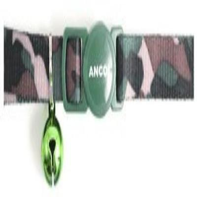 Camouflage Cat Collar W/ Safety Buckle Green Pet Supplies Made Of Soft Fabric Ne
