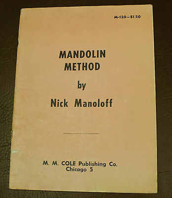 1955 Mandolin Method By Nick Manoloff Music Lessons Book Beginners Instructional