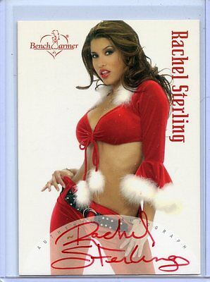 2004 Benchwarmer Rachel Sterling Holiday Autograph