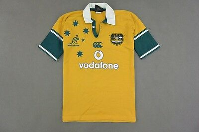 WALLABIES AUSTRALIA Canterbury RUGBY SHIRT JERSEY SIZE S (adults)