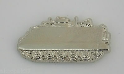 113 Armoured Personnel Carrier Silver  Plated Lapel Badge 25Mm Wide With 1 Pin