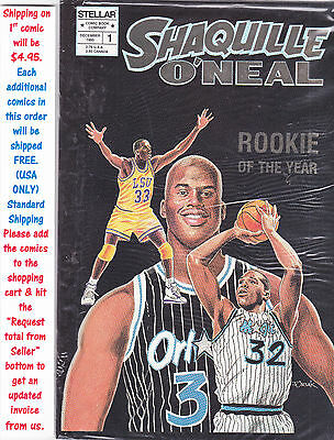 Shaquille O'neal Rookie Of The Year  Comic #1 (Gold ) Vf Unread #26783