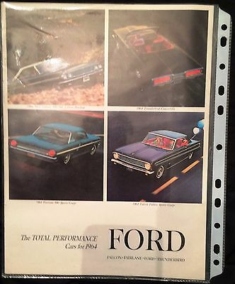Advertisement brochure 1964 Ford Car Line Falcon Fairlane Ford and Thunderbird