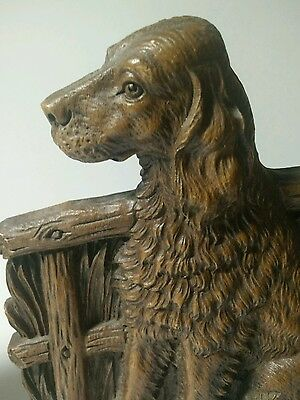 VINTAGE IRISH ENGLISH SETTER BOOKENDS SYROCO U.S.A. No Tag
