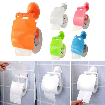 New Wall Mounted Tissue Box Paper Toilet Sucker Holder Roll Paper Bathroom