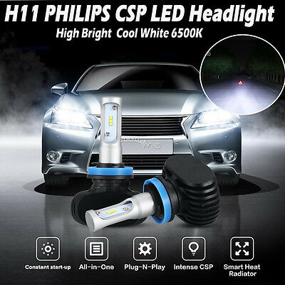 HOT H11 H8 H9 Philips 180W 18000LM CSP Chips LED Headlight Bulbs Kit High Bright