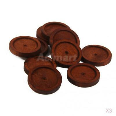 30pcs Round Antique Wooden Cameo Base Setting/Tray Vintage Jewelry Making