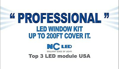 100 ft Store Window front LED Light Professional Package Kit