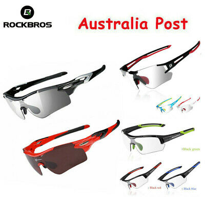 ROCKBROS Cycling Glasses Polarized Bike UV400 Sunglasses Photochromic Goggles AU