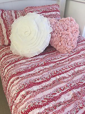 Linens n Things Indie Shabby Chic Frill Girls Single Bed Coverlet Bedspread Set