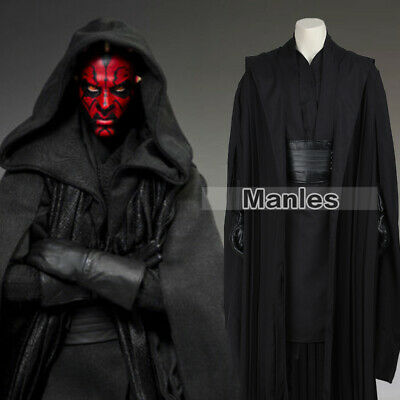 Star Wars Jedi Knight Cosplay Darth Maul Costume Full Set Halloween Men Outfits