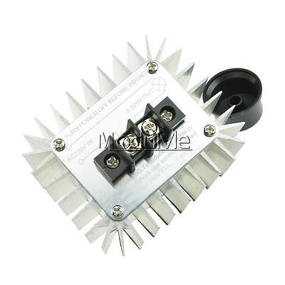 AC 220V 5000W SCR Voltage Regulator Speed Controller Dimmer Thermostat TOP MO