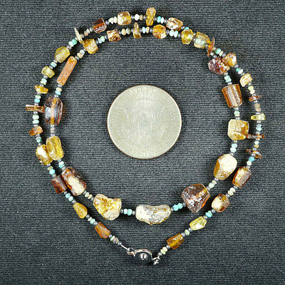 Ancient Roman Glass Beads 1 Medium Strand 100 -200 Bc 645