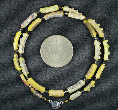 Ancient Roman Glass Beads 1 Medium Strand 100 -200 Bc 636