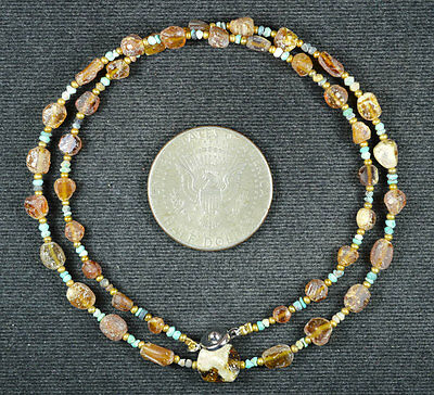 Ancient Roman Glass Beads 1 Medium Strand 100 -200 Bc 637