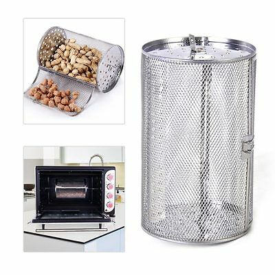 Stainless Steel For Coffee Beans Peanut BBQ  Rotisserie Roaster Drum Baking Oven