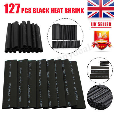127Pcs Black&Red Heat Shrink Tubing Kit Wire Electrical Assortment Sleeving Tube
