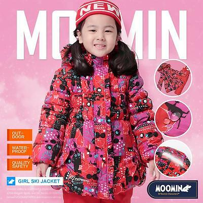 Moomin kids Girls winter coat skiing snow Jacket Tops Suit padded wadded Parkas