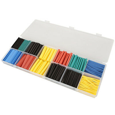 280Pcs Assorted Heat Shrink Tube Tubing Wrap Car Electrical Sleeve Kit 8 Sizes