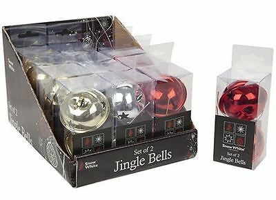 Other Christmas Decorations MATT BROWN on Silver String COLOUR 175cm STRING OF Christmas JINGLE BELLS Christmas Home Decor