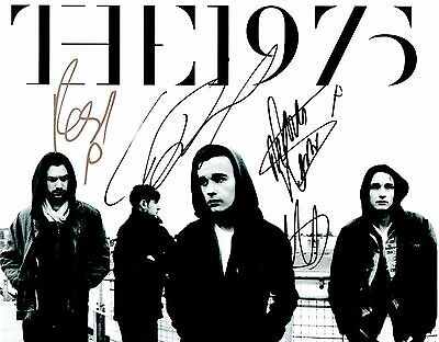 THE 1975 FULLY SIGNED 10x8 PHOTO - FaceDown/Music For Cars
