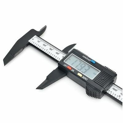 "1.6"" LCD 150mm Carbon Fiber High Accuracy Digital Caliper for Jewelry, Gemstones"