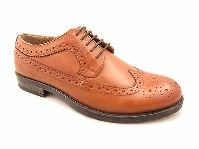 Mens Tan Leather Brogue Smart Lace Up Shoes Silver Street 11720 Sizes UK 6 & 8