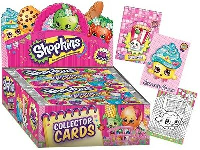Shopkins Trading Card Booster Packs x3 NEW SEALED